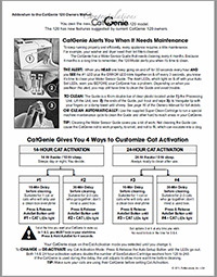 CatGenie addendum manual