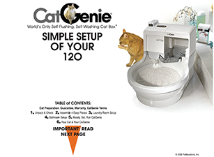 Simple setup of the CatGenie unit manual